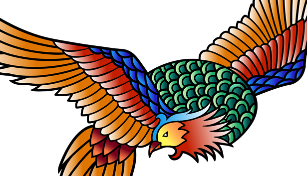 力強い伝説の鳥
